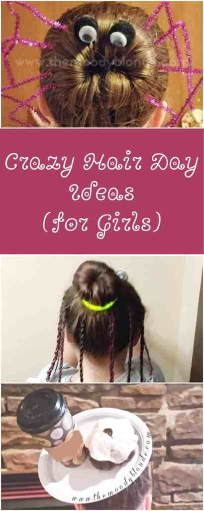 Crazy Hair Day for Girls Collage