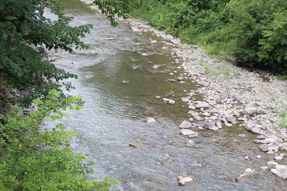 Schoharie, NY Fox Creek viewed from the Fox Creek Bridge
