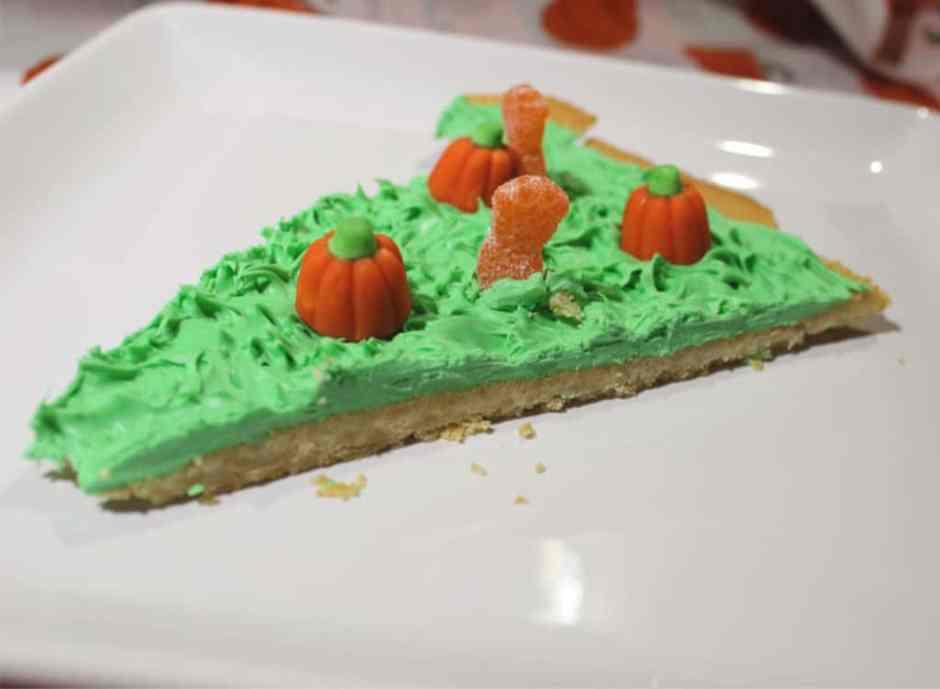 zombie pumpkin patch cookie pizza slice