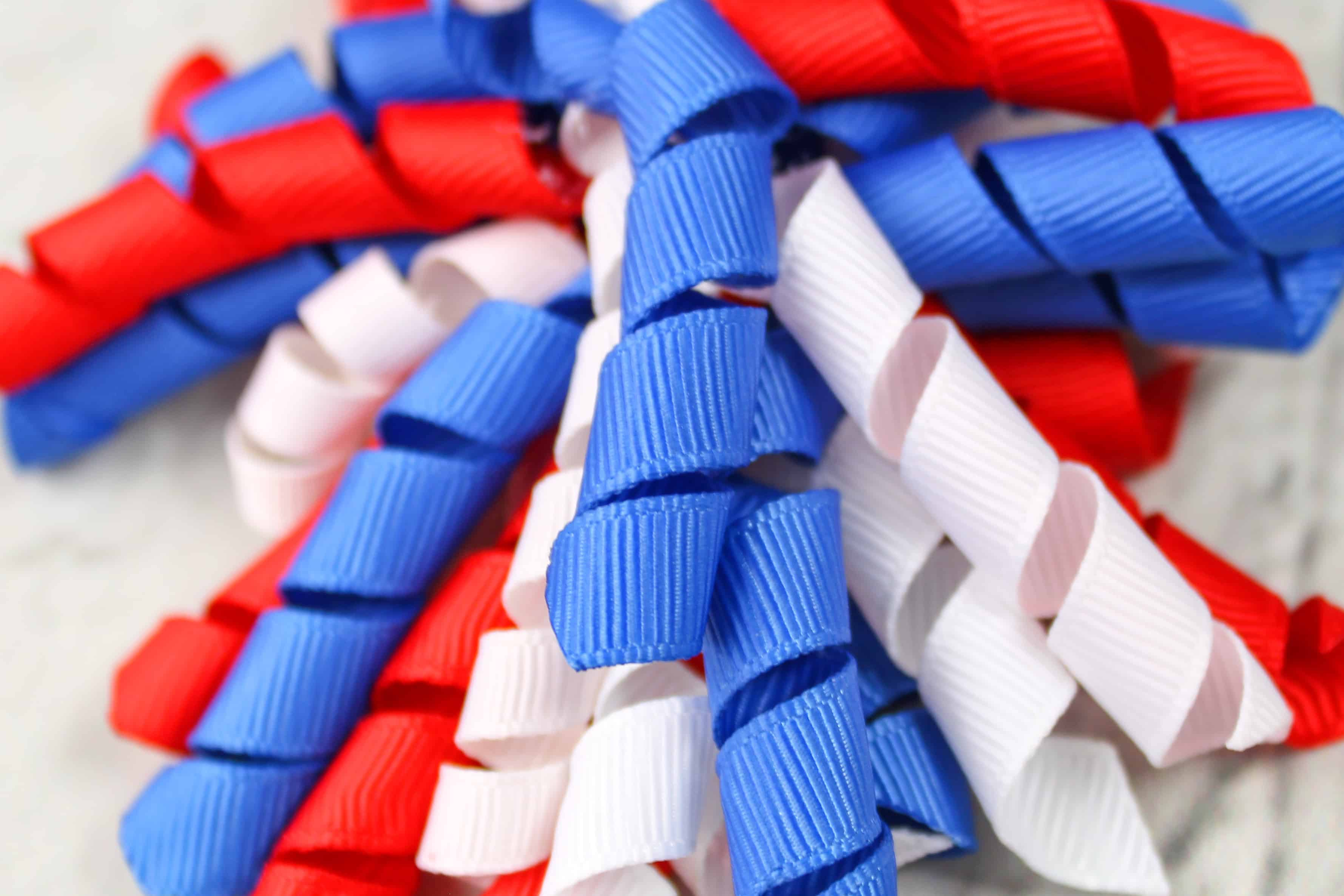DIY Red, White, and Blue Patriotic Korker Hair Bows