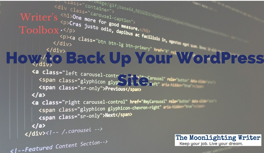11 Simple Steps to Back Up Your WordPress Author Website