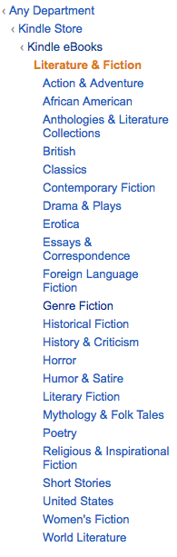 Kindle Subcategories