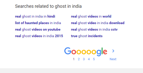 Google Searches Related to Ghosts in India