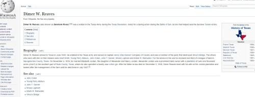 Wikipedia Dimer W. Reaves