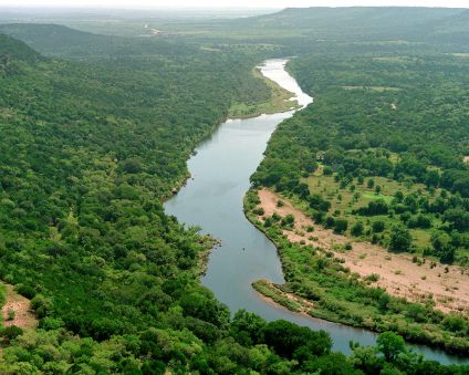 Brazos River below Possum Kingdom Lake, Palo Pinto County, Texas