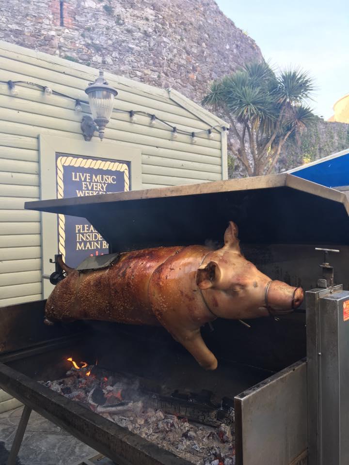 The Moorings Dungarvan Pig on Spit