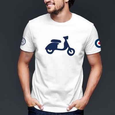camiseta-blanca-manga-corta-scooter-mod-modelo-the-moped
