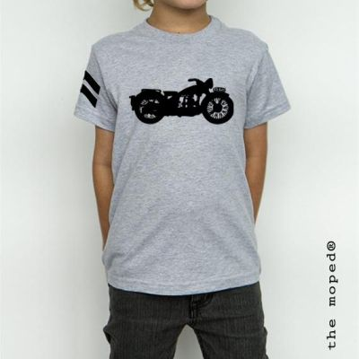 camiseta-gris-kid-moto-s3ajs-the-moped-bikers