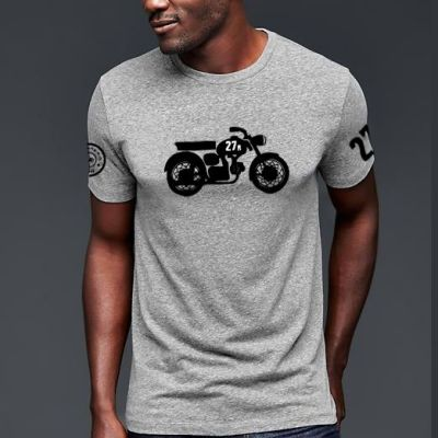 camiseta-gris-manga-corta-moto-27r-the-moped-modelo