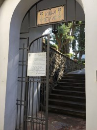 Entrance to Villa Eva