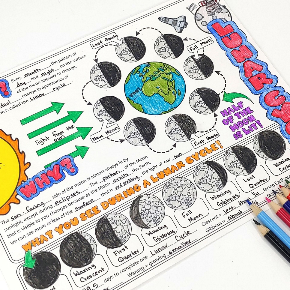 hight resolution of Struggling to teach moon phases? Check out these fun lesson ideas for all  learning styles! – The Morehouse Magic