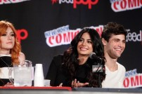 "SHADOWHUNTERS - The cast and creators of ABC Family's ""Shadowhunters"" appear at New York Comic-Con on October 10, 2015 to discuss the new series. ""Shadowhunters"" premieres Tuesday, Jan. 12 at 9 p.m. ET on ABC Family. (ABC Family/Lou Rocco) KATHERINE MCNAMARA, EMERAUDE TOUBIA, MATTHEW DADDARIO"