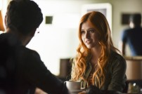 "SHADOWHUNTERS - ""The Mortal Cup"" - One young woman realizes how dark the city can really be when she learns the truth about her past in the series premiere of ""Shadowhunters"" on Tuesday, January 12th at 9:00 - 10:00 PM ET/PT. ABC Family is becoming Freeform in January 2016. Based on the bestselling young adult fantasy book series The Mortal Instruments by Cassandra Clare, ""Shadowhunters"" follows Clary Fray, who finds out on her birthday that she is not who she thinks she is but rather comes from a long line of Shadowhunters - human-angel hybrids who hunt down demons. Now thrown into the world of demon hunting after her mother is kidnapped, Clary must rely on the mysterious Jace and his fellow Shadowhunters Isabelle and Alec to navigate this new dark world. With her best friend Simon in tow, Clary must now live among faeries, warlocks, vampires and werewolves to find answers that could help her find her mother. Nothing is as it seems, including her close family friend Luke who knows more than he is letting on, as well as the enigmatic warlock Magnus Bane who could hold the key to unlocking Clary's past. (ABC Family/John Medland) KATHERINE MCNAMARA"