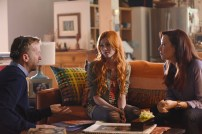 "SHADOWHUNTERS - ""The Mortal Cup"" - One young woman realizes how dark the city can really be when she learns the truth about her past in the series premiere of ""Shadowhunters"" on Tuesday, January 12th at 9:00 - 10:00 PM ET/PT. ABC Family is becoming Freeform in January 2016. Based on the bestselling young adult fantasy book series The Mortal Instruments by Cassandra Clare, ""Shadowhunters"" follows Clary Fray, who finds out on her birthday that she is not who she thinks she is but rather comes from a long line of Shadowhunters - human-angel hybrids who hunt down demons. Now thrown into the world of demon hunting after her mother is kidnapped, Clary must rely on the mysterious Jace and his fellow Shadowhunters Isabelle and Alec to navigate this new dark world. With her best friend Simon in tow, Clary must now live among faeries, warlocks, vampires and werewolves to find answers that could help her find her mother. Nothing is as it seems, including her close family friend Luke who knows more than he is letting on, as well as the enigmatic warlock Magnus Bane who could hold the key to unlocking Clary's past. (ABC Family/John Medland) MCG (DIRECTOR), KATHERINE MCNAMARA, MAXIM ROY"