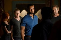 "SHADOW HUNTERS - ""Blood Calls to Blood"" - With the help of a new ally, Clary and Jace attempt to rescue Jocelyn in ""Blood Calls to Blood,"" an all-new episode of ""Shadowhunters,"" airing TUESDAY, MARCH 22 (9:00-10:00 p.m. EDT) on Freeform. (Freeform/John Medland) KATHERINE MCNAMARA, DOMINIC SHERWOOD, ISAIAH MUSTAFA, ADAM HARRINGTON"