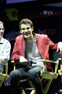 """SHADOWHUNTERS - The cast and producers of Freeform's """"Shadowhunters,"""" are featured at the COMIC CON Convention at the Jacob Javits Center in New York City on October 8, 2016. (Freeform/Lou Rocco) ALBERTO ROSENDE"""