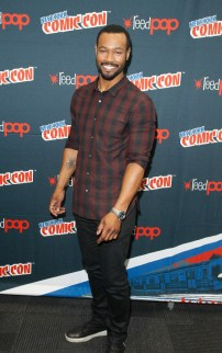 """SHADOWHUNTERS - The cast and producers of Freeform's """"Shadowhunters,"""" are featured at the COMIC CON Convention at the Jacob Javits Center in New York City on October 8, 2016. (ABC/Freeform) ISAIAH MUSTAFA"""