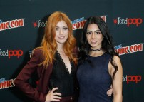 """SHADOWHUNTERS - The cast and producers of Freeform's """"Shadowhunters,"""" are featured at the COMIC CON Convention at the Jacob Javits Center in New York City on October 8, 2016. (ABC/Freeform) KATHERINE MCNAMARA, EMERAUDE TOUBIA"""