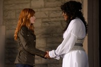"SHADOWHUNTERS - ""Iron Sisters"" - Clary and Isabelle head to The Citadel looking for answers in ""Iron Sisters,"" an all new episode of ""Shadowhunters,"" airing MONDAY, FEBRUARY 6 (8:00 – 9:00 PM EDT) on Freeform. (Freeform/John Medland) KATHERINE MCNAMARA, LISA BERRY"