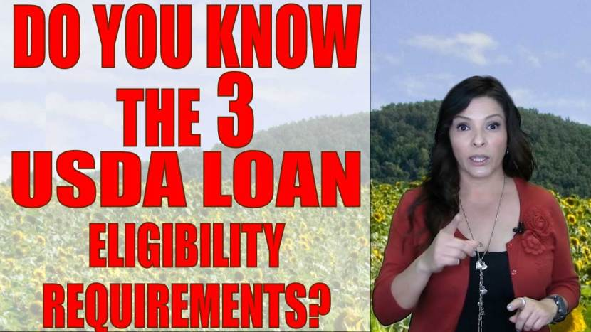 3-Requirements of USDA Loans