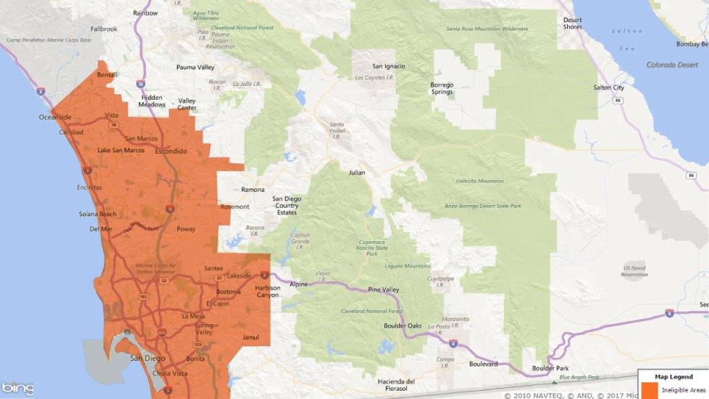 San Diego Areas- USDA Loans