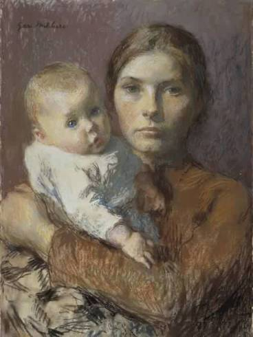 Gari-Melchers-xx-Mother-and-Child-1904
