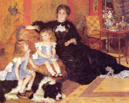 Madame Georges Charpentier and her Children_ Georgette and Paul