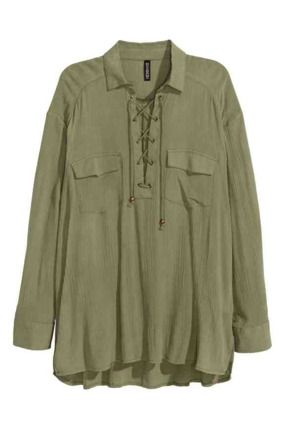 Lace Up Blouse £19.99