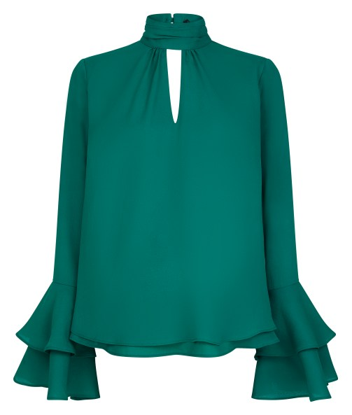 ASOS Maternity Cut Out Neck Flared Sleeve Blouse £30