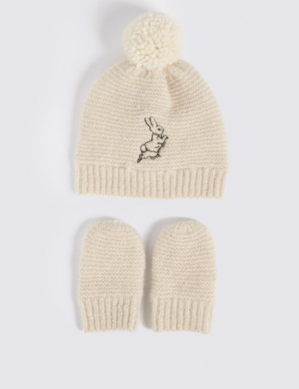 M&S Baby Peter RabbitTM Hat & Mittens Set - £12-£14
