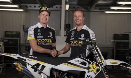ROCKSTAR ENERGY HUSQVARNA FACTORY RACING SIGN PAULS JONASS