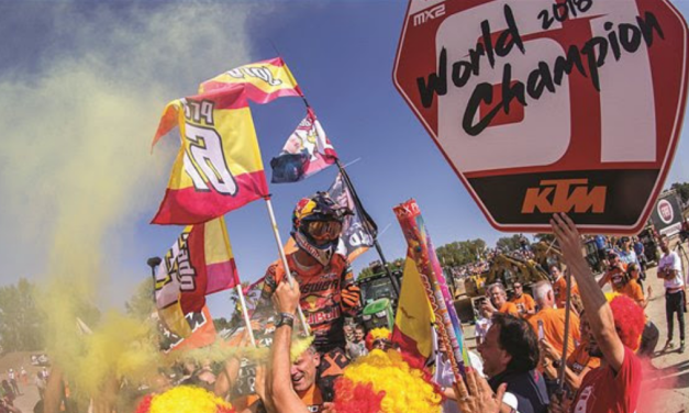 KTM & PRADO CELEBRATE MX2 MOTOCROSS WORLD CHAMPIONSHIP VICTORY!