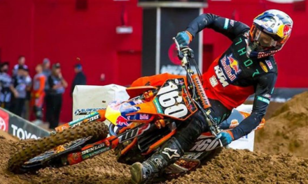 KTM RED BULL THOR FACTORY RACER JESS PETTIS SHOWS SOLID PERFORMANCE AT GLENDALE SX