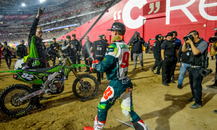 MONSTER ENERGY®/PRO CIRCUIT/KAWASAKI RIDER ADAM CIANCIARULO DOMINATES THE DESERT