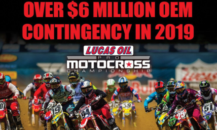 More Than $6 Million in Manufacturer Support Highlights Contingency Package for 2019 Lucas Oil Pro Motocross Championship