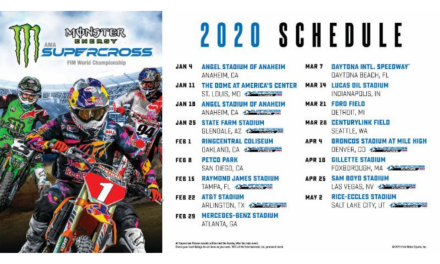 Monster Energy Supercross 2020 Race Schedule Announced
