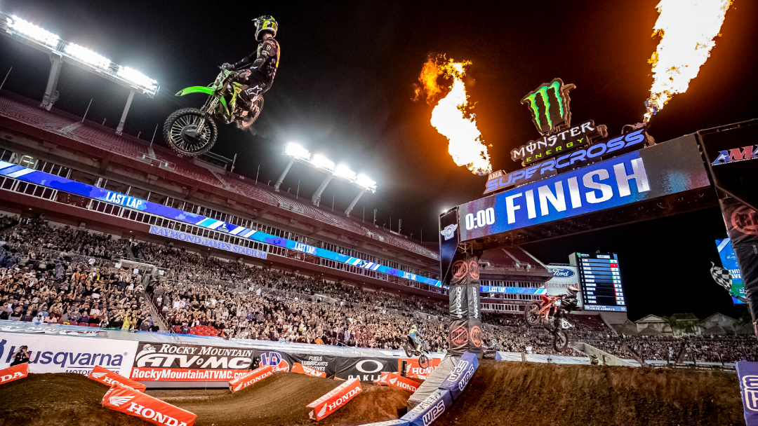 MONSTER ENERGY® KAWASAKI RIDER ELI TOMAC CAPTURES 30TH 450SX CAREER WIN AND SECURES CHAMPIONSHIP POINTS LEAD