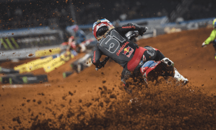 JUSTIN BARCIA COMES FROM BEHIND TO FINISH FOURTH AT ARLINGTON 2 SUPERCROSS