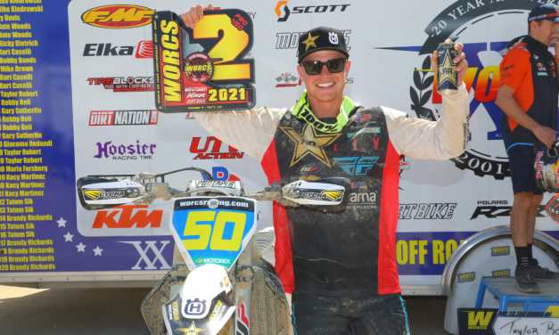 ROCKSTAR ENERGY HUSQVARNA FACTORY RACING'S AUSTIN WALTON CLAIMS A RUNNER-UP FINISH AT ROUND 4 OF WORCS