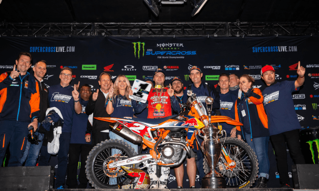 COOPER WEBB CLINCHES KTM'S FIFTH AMA SUPERCROSS 450SX CHAMPIONSHIP