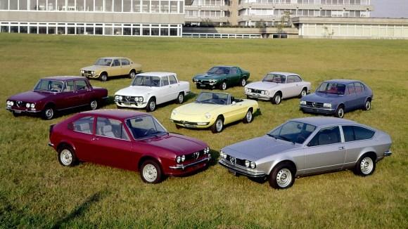 Alfa Romeo model range 1970