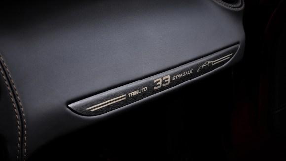 Alfa Romeo 4C Spider 33 Stradale Tributo interior badge