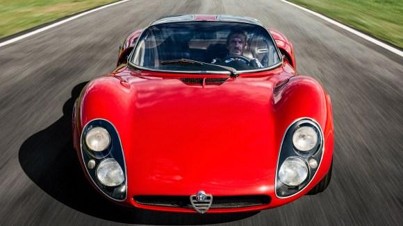 Alfa Romeo Tipo 33 Stradale design front twin-headlight design