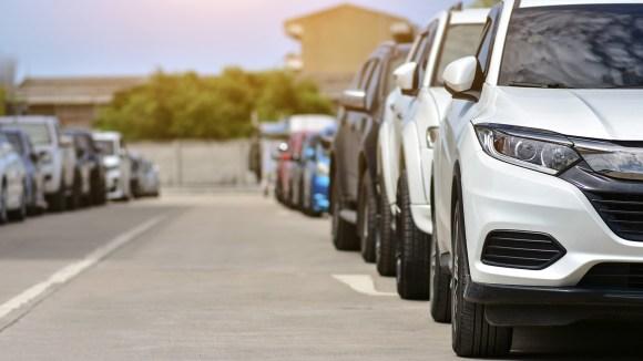 Cars on street parking