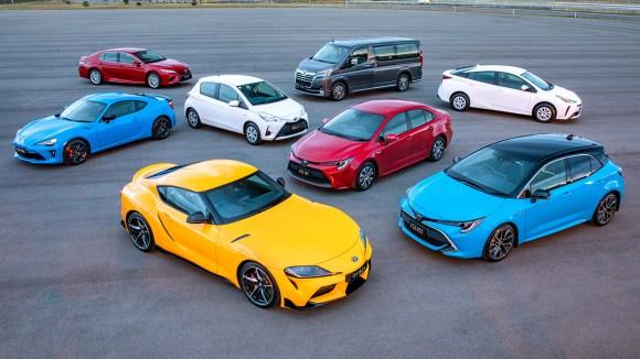 Toyota sports car SUV model range