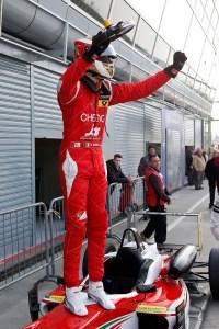 Marciello celebrates victory. © FIA
