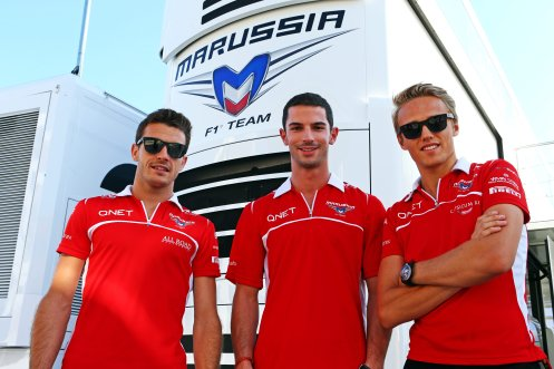 Rossi with Jules Bianchi (left) and Max Chilton (right). © Alexander Rossi Official