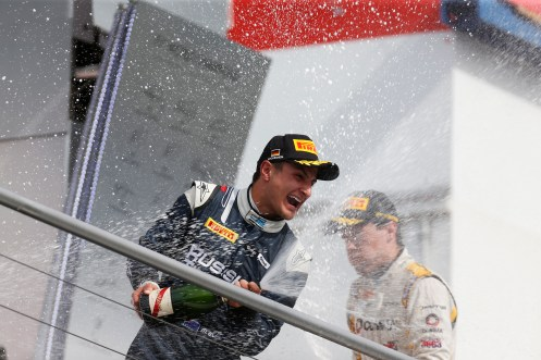 Evans was a winner in Hockenheim. © Sam Bloxham/GP2 Series Media Service.