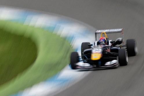 Verstappen took his 10th FIA F3 win at Hockenheim. © FIA F3 Media Services.