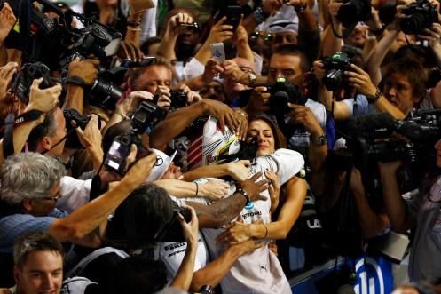 Hamilton took his 2nd F1 title in Abu Dhabi. ©2014 MERCEDES AMG PETRONAS Formula One Team
